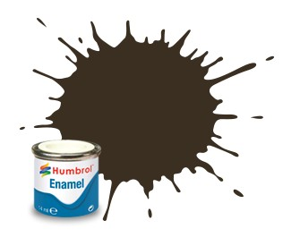 Humbrol Enamel No 10 Service Brown - Blank 14ml