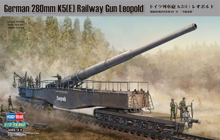HobbyBoss 1/72 German 280mm K5(E) Railway Gun Leopold