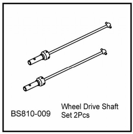 810-009 BSD TRANSVERSE DRIVE SHAFT SET