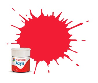 Humbrol Akryl No 238 Arrow Red - Blank 14ml boks