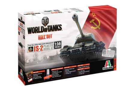 Italeri 1/56 World of Tanks IS-2 m/Lim