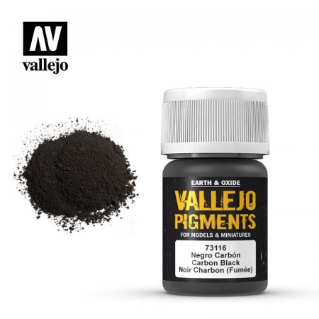 Vallejo Pigments Carbon Black (Smoke Black) 35ml