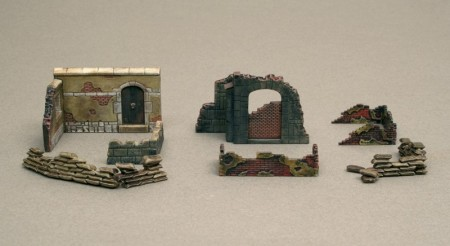 Italeri byggesett 1/72 WWII Walls and Ruins II