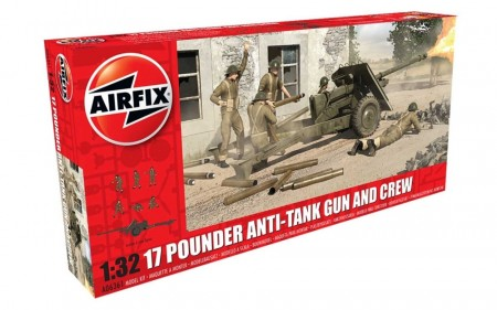 Airfix 1/32 17 Pounder Anti-Tank Gun and Crew
