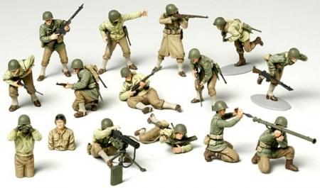 3 x US Marine 1942 3 x British COMMANDO 1942 soldats Diecast figures New