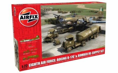 Airfix 1/72 Eight Air Force: Boeing B-17G & Bomber Re-Supply Set