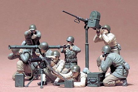 Tamiya 1/35 WWII U.S Gun and Mortar Team