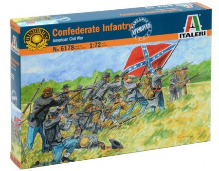 Italeri 1/72 Confederate Infantry American Civil War 6178