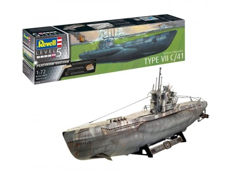 Revell 1/72 German Submarine Type VII C/41 Plantinum Edition