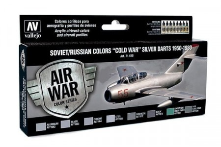 Vallejo Model Air Soviet/Russian Colors Cold War Silver Darts 1950-1980
