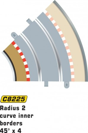 Scalextric Rad 2 Inner borders & barrier C8225
