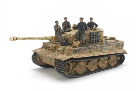 Tamiya 1/35 German Tiger I Late Version w/Ace Commander and Crew Set