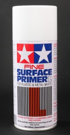 Tamiya Sprayboks Surface Primer L White - 180ml