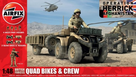 Airfix byggesett 1/48 British Forces Quad Bikes and Crew A04701