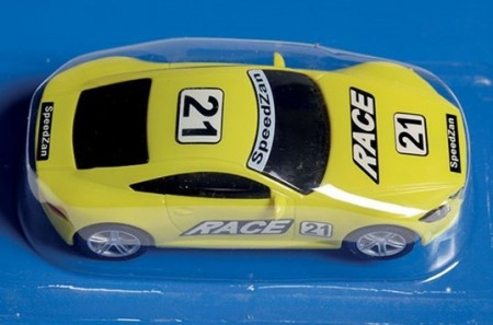 SpeedZan bil 1/43 Race Yellow Racer