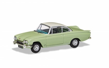 Corgi 1/43 Ford Capri 109E - Lime Green and Ermine White