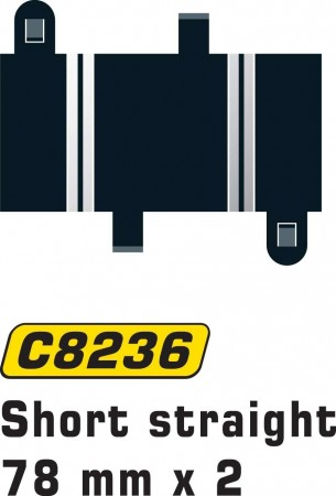 Scalextric Short Straight 78mm (2stk) C8236