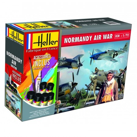 Heller Gavesett 1/72 Normandy Air War (2 stk. fly og 94 stk. figurer)