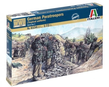 Italeri Infanterisett 1/72 German Paratroopers (Tropical Uniform) No 6134