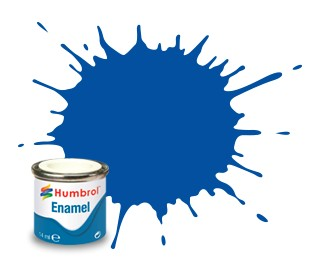Humbrol Enamel No 14 French Blue - Blank 14ml