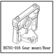 701-016 BSD GEAR MOUNT/REAR