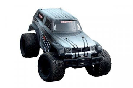 BlackZon R/C 1/12 Monster Truck 4WD 2.4Ghz Sølv RTR