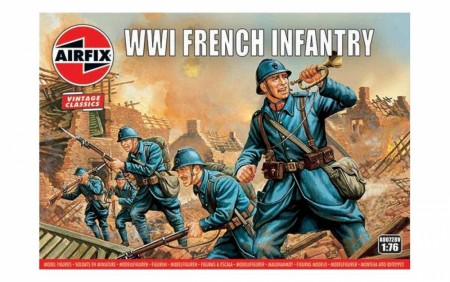 Airfix 1/76 WWI French Infantry Vintage Classics