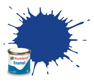 Humbrol Enamel No 25 Blue - Matt 14ml