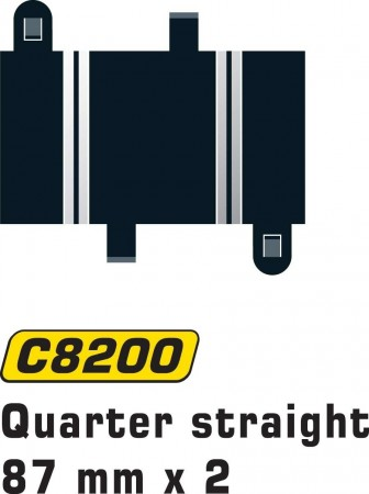 Scalextric Quarter Straight 87mm (2stk) C8200