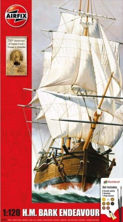 Airfix Gavesett 1/120 H.M Bark Endeavour and Captain Cook 250th Anniversary