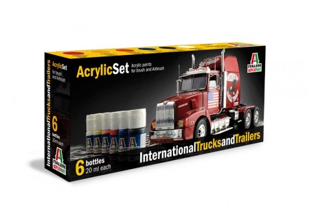 Italeri Arcylic Set International Trucks and Trailers (6stk. 20ml)