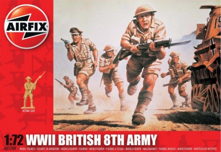 Airfix Infanterisett 1/72 WWII British 8TH Army