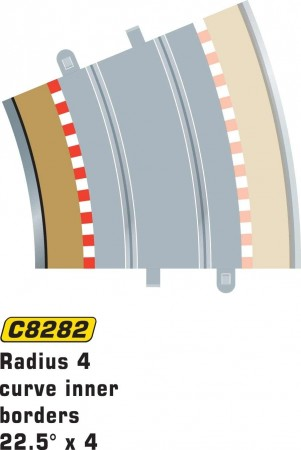 Scalextric Rad 4 Inner borders & barriers C8282