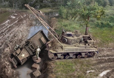 Italeri 1/35 M32B1 Armored Recovery Vehicle