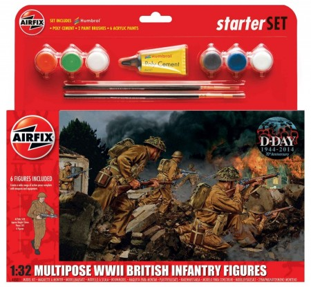 Airfix Startsett 1/32 Multipose WWII British Infantry Figures A55211