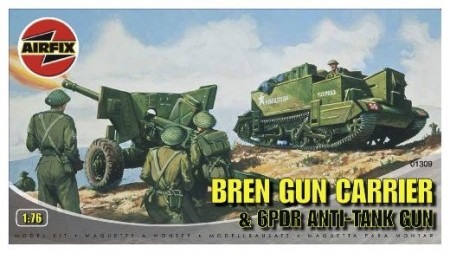 Airfix byggesett 1/76 Bren Gun Carrier and 6PDR Anti-Tank Gun A01309
