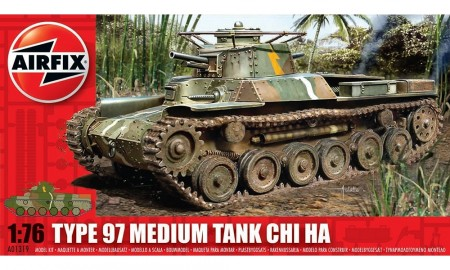 Airfix byggesett 1/76 Type 97 Medium Tank Chi Ha A01319