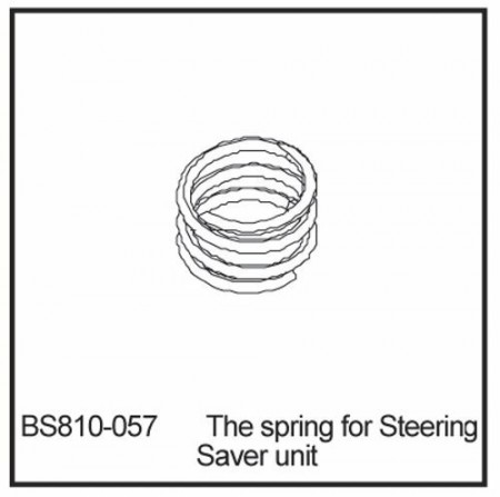 810-057 BSD THE SPRING FOR STEERING SAVER UNIT