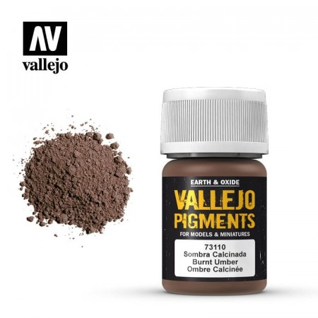 Vallejo Pigments Burnt Umber 35ml