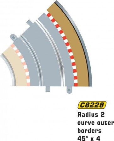 Scalextric Rad 2 Outer borders & barrier C8228
