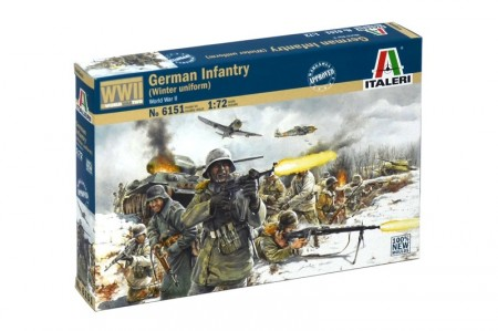 Italeri Infanterisett 1/72 German Infantry (Winter uniform) 6151