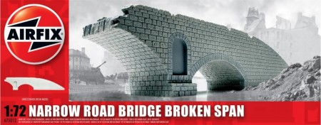 Airfix Plastmodell 1/72 Narrow Road Bridge Broken Span A75012