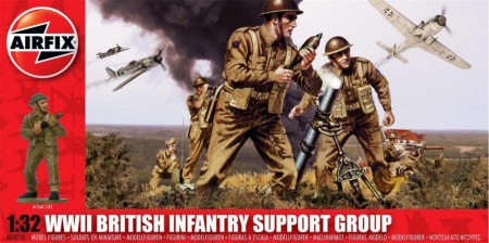 Airfix Infanterisett 1/32 WWII British Infantry Support Group A04710