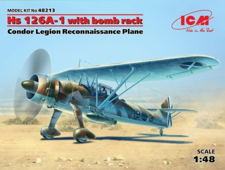 ICM 1/48 Hs 126A-1 with Bomb Rack