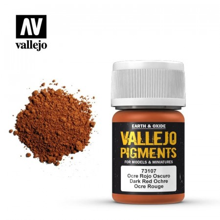 Vallejo Pigments Dark Red Ochre 35ml