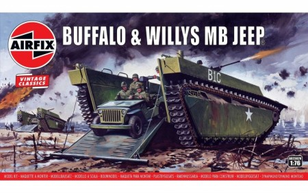 Airfix 1/76 Buffalo and Willys MB Jeep Vintage Classics