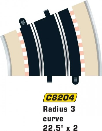 Scalextric Rad 3 Outer Curve 22.5° (2stk)