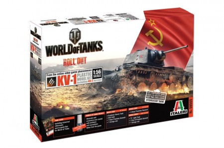 Italeri 1/56 World of Tanks KV-1/KV-2 m/Lim