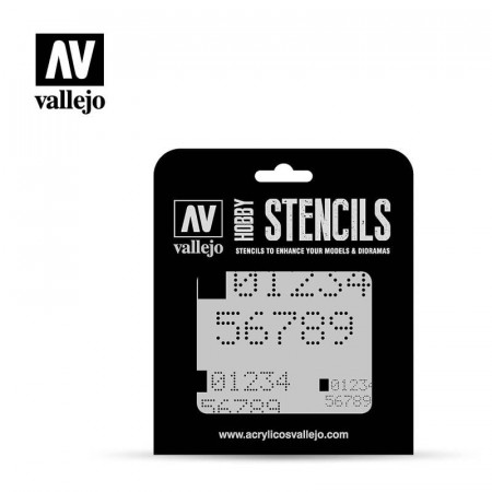 Vallejo Stencils Digital Numbers