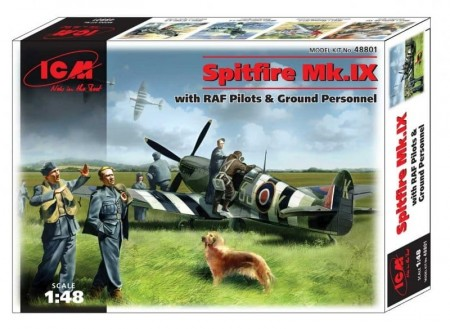 ICM 1/48 Spitfire Mk.IX with RAF Pilots and Ground Personnel